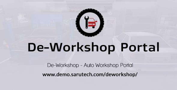 Auto Workshop Portal DeWorkshop PHP FIX - Auto de