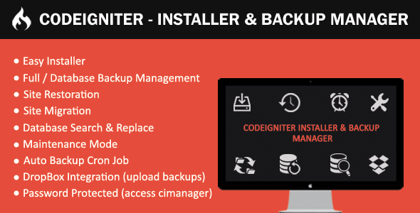 Installer & Backup Manager - CodeIgniter - PHP FIX