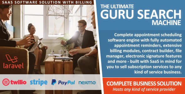 Guru Search Portal (SaaS Business Engine) with Appointment