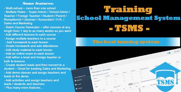 Training School Management System - TSMS - PHP FIX