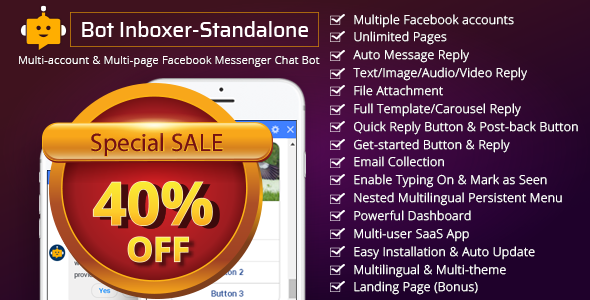 Bot Inboxer - Standalone : Multi-account & Multi-page Facebook