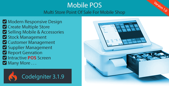 Mobile POS - Multi Store Point Of Sale for Mobile Shop