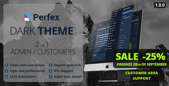Perfex CRM Dark Theme