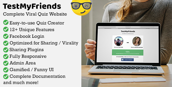 TestMyFriends - Complete Viral Friend Quiz Website