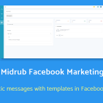 automatize and send promotional messages with templates in Messenger – Midrub Facebook Marketing