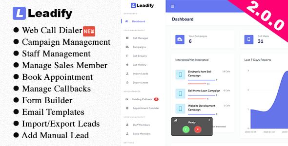 Leadify - Lead & Call Center CRM