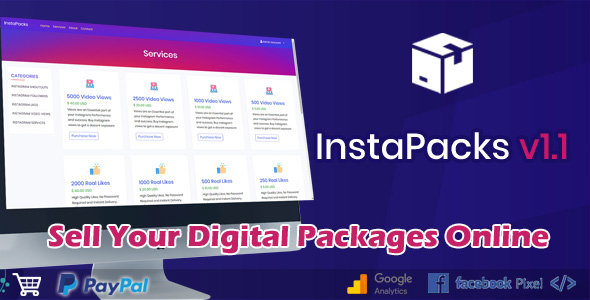 InstaPacks B2C Platform for Selling Services Packages Online