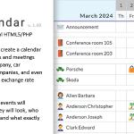 Universal multi-functional calendar. Team, rental, multipurpose calendar. – Your Calendar