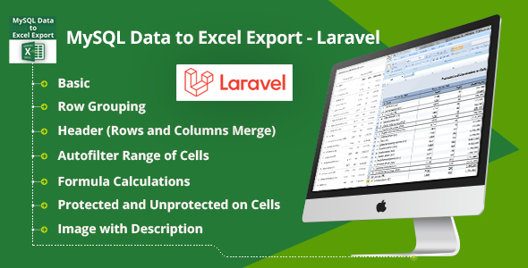 MySQL Data to Excel Export - Laravel