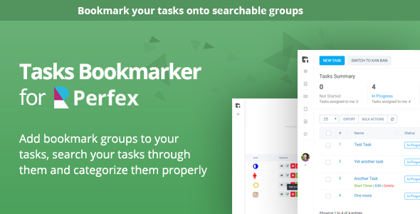 Tasks Bookmark module for Perfex CRM
