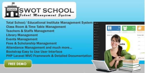 SWOT SCHOOL- School Management Software PHP Script