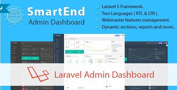 SmartEnd - Laravel Admin Dashboard PHP Script - PHP FIX